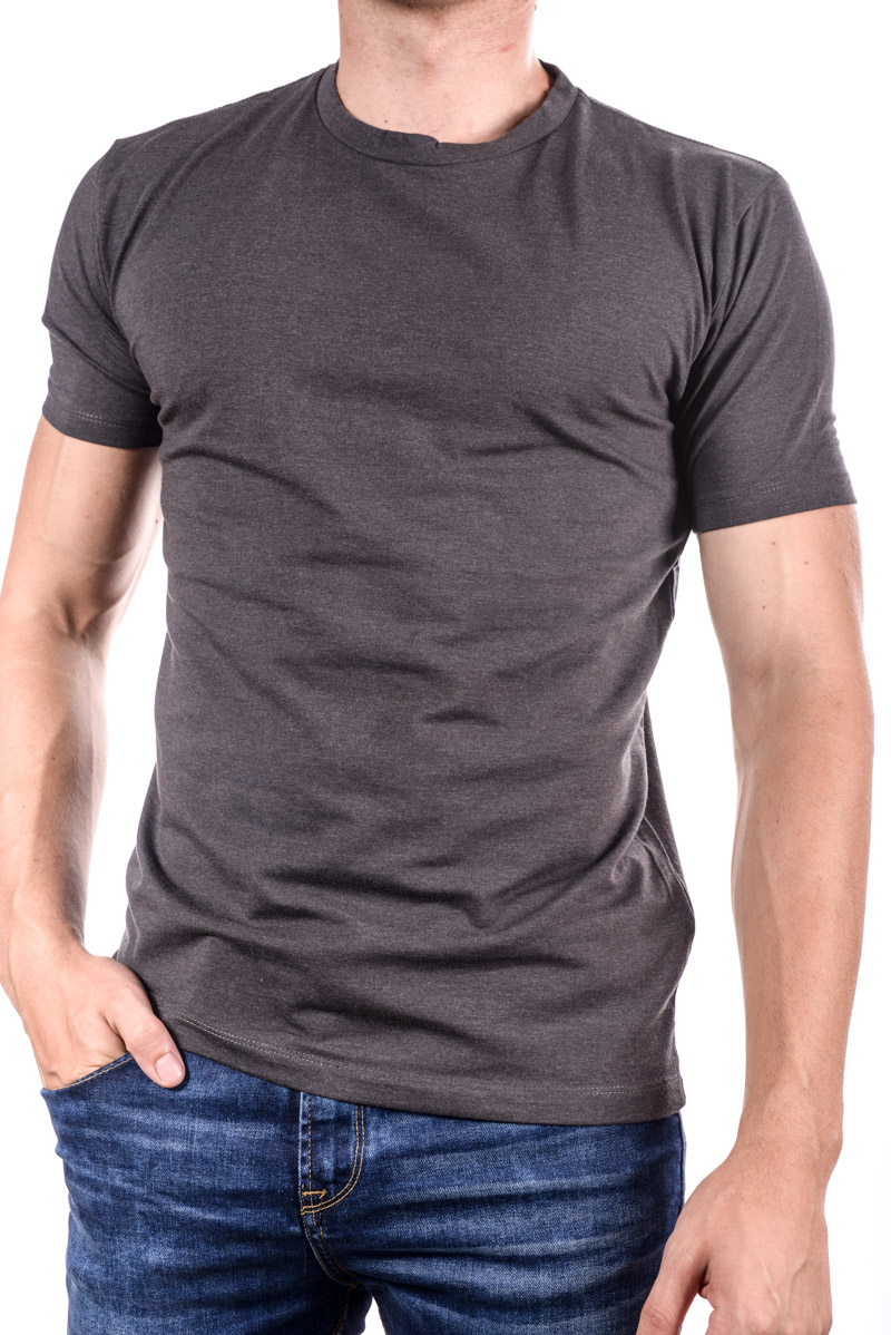 Tricou SELECTED Gizmo Mid Grey Melange