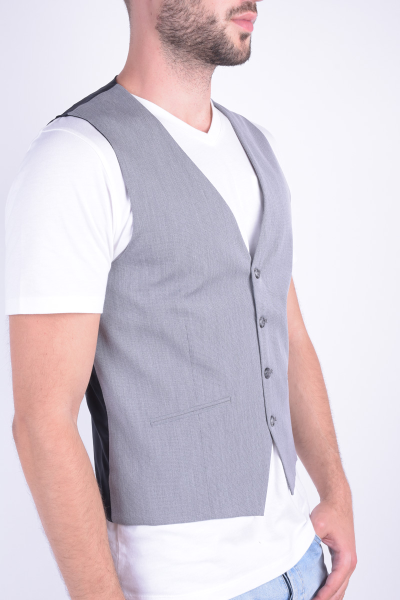 Vesta SELECTED Jack&Jones Shdome Maze Waistcoat Light Grey
