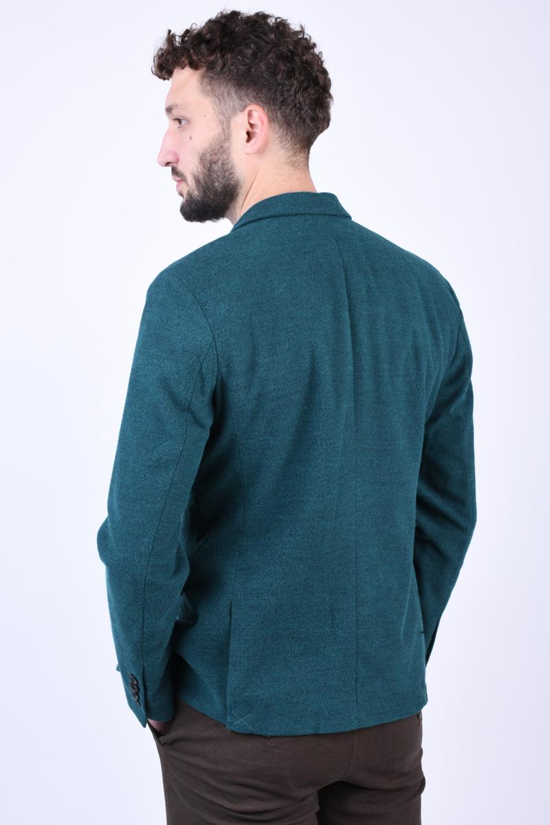 Sacou Slim SELECTED Cut Teal Green