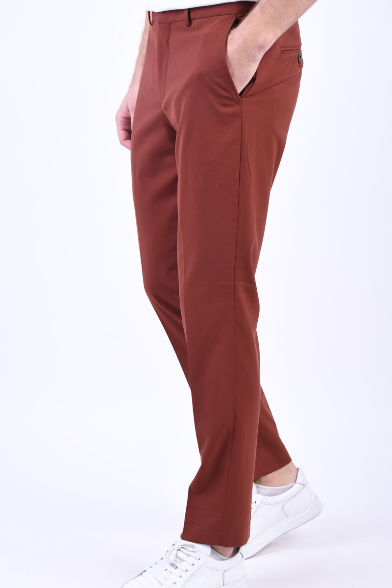 Pantaloni SELECTED Slim-Mylollogan Smoked Paprika