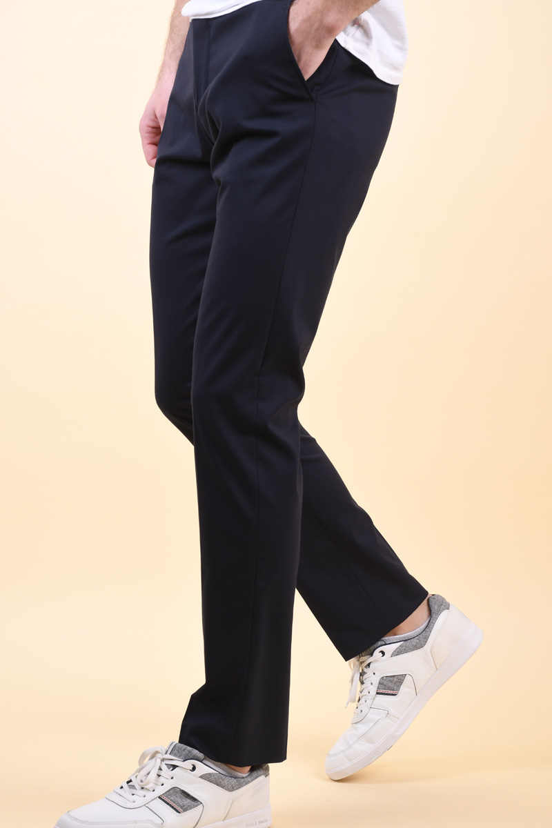 Pantaloni SELECTED Slim-Mylogan Navy Trouser Navy Blazer
