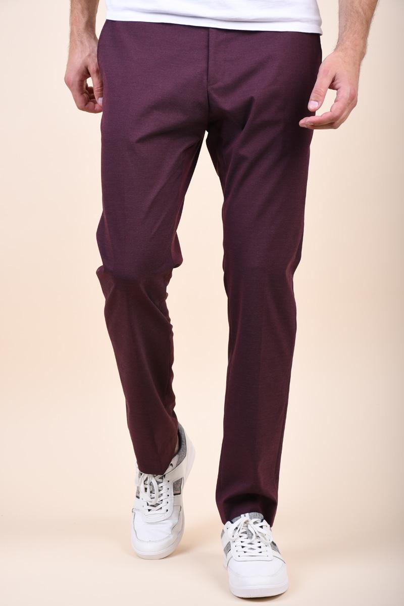 Pantaloni SELECTED Slim-Mylogan Fudge Fudge