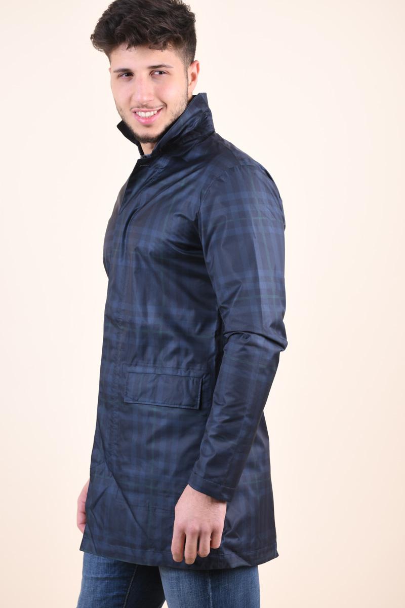 Jacheta Carouri SELECTED Julian Flex Grey Checks Blue Dark Grey