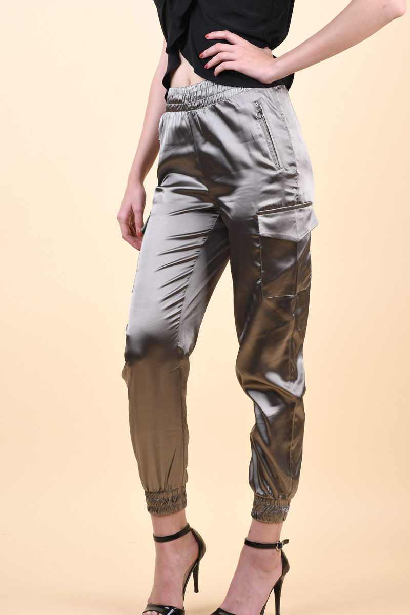 Pantaloni Sister Point Mona-Pa Khaki