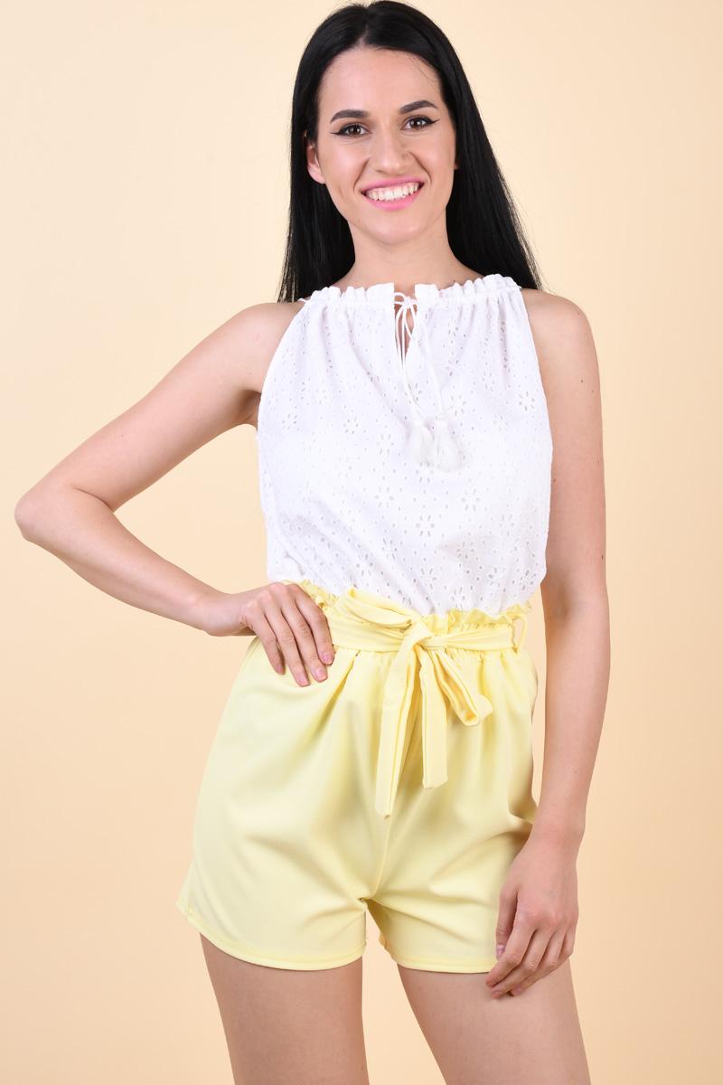 Pantaloni Scurti Sister Point Noto-Sho L.Yellow