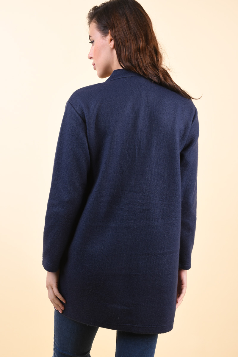 Cardigan Lung SUBLEVEL D68500Y01744A Bleumarin