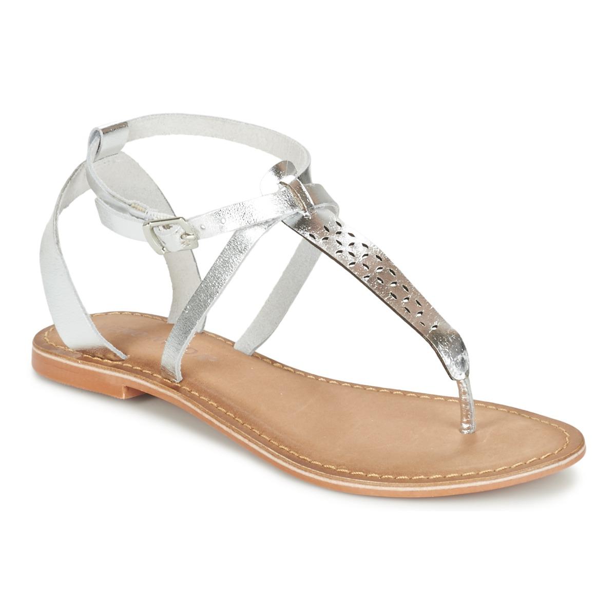 Sandale Piele VERO MODA Anneli Argintiu