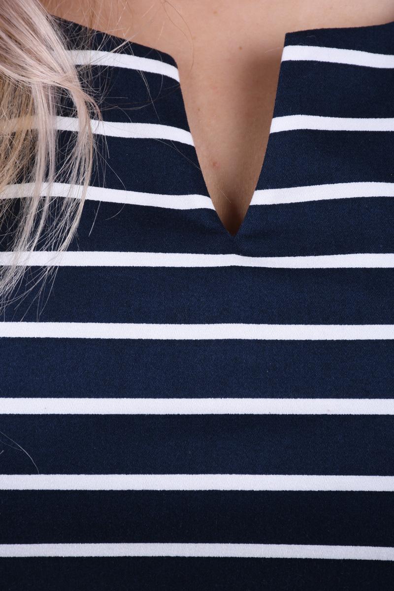 Rochie Scurta Bumbac VERO MODA Pekaya Stripes Bleomarin