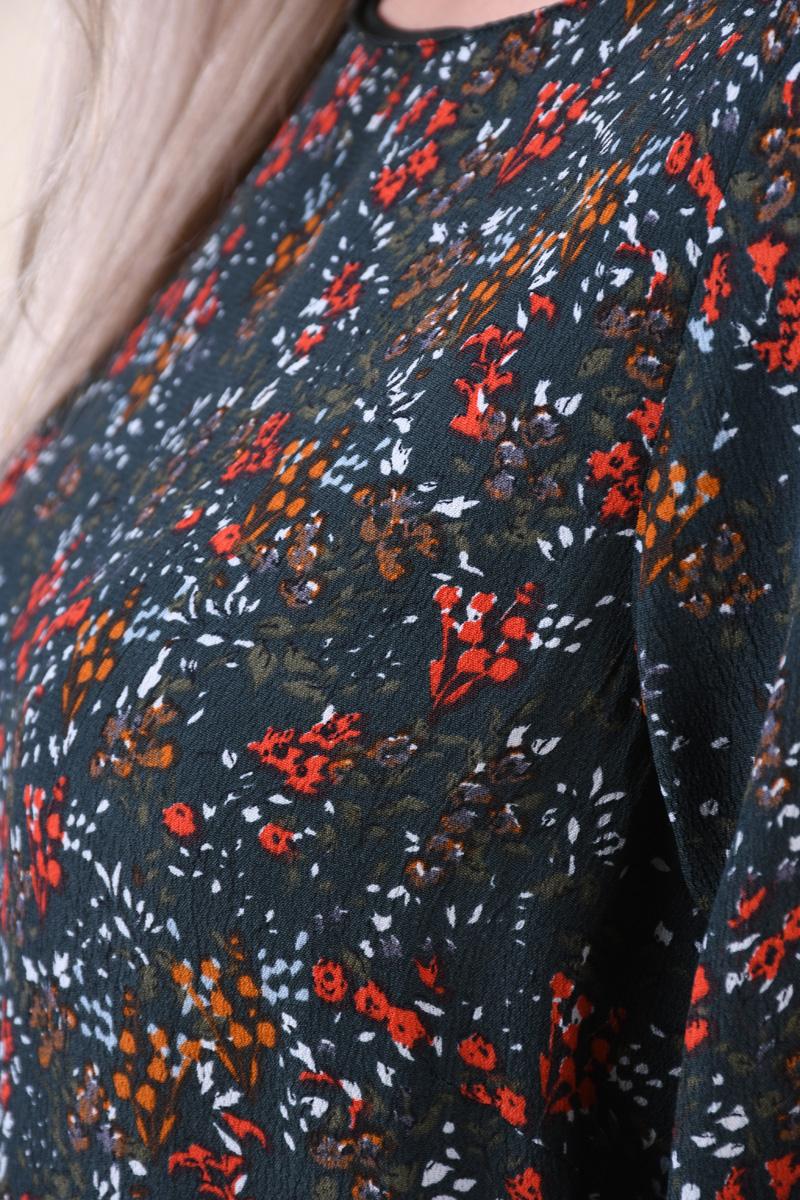 Rochie Florala VERO MODA Camille Verde Inchis