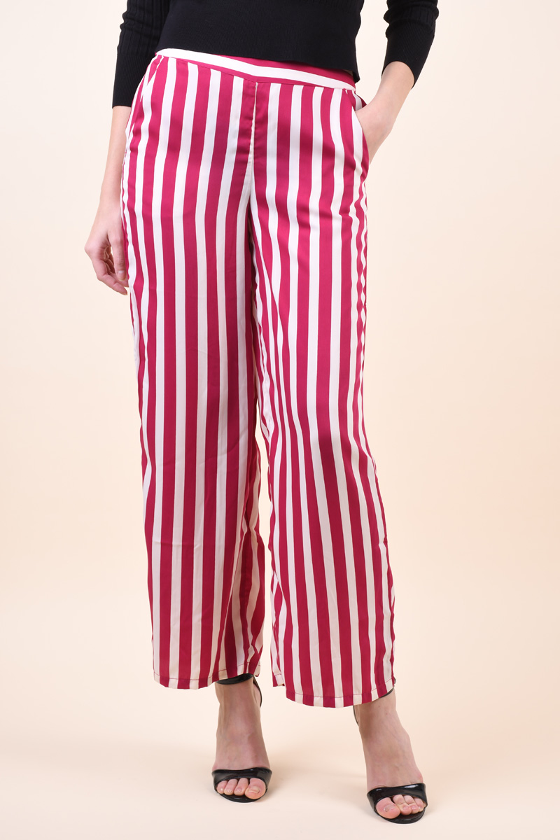 Pantaloni VERO MODA Stinna Coco Nw Festival Fuchsia/Snow White