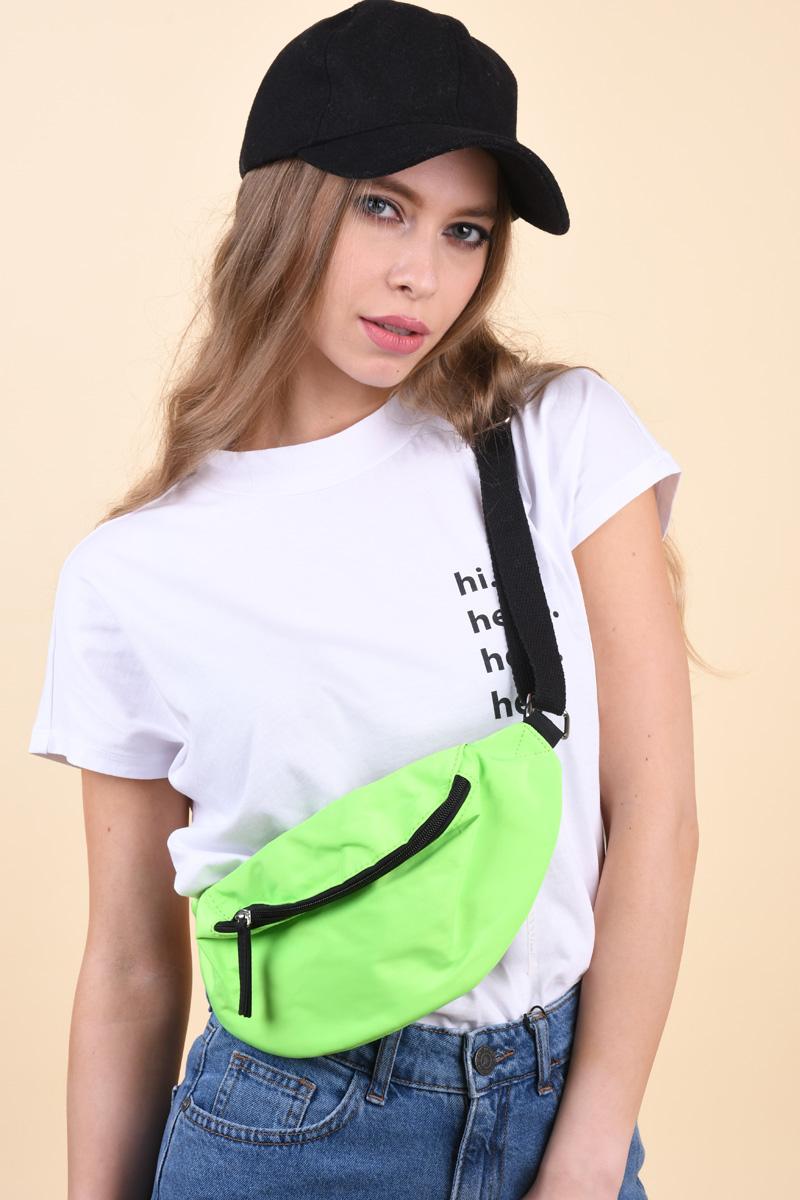 Borseta VERO MODA Sanie Fanny Pack Neon Green
