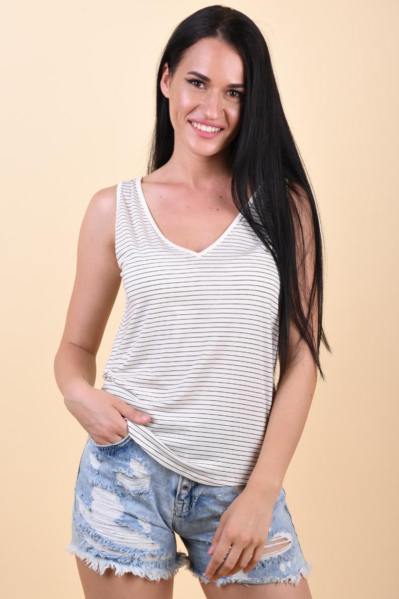 Maieu VERO MODA Ava Snow White Stripes Rebecca Black