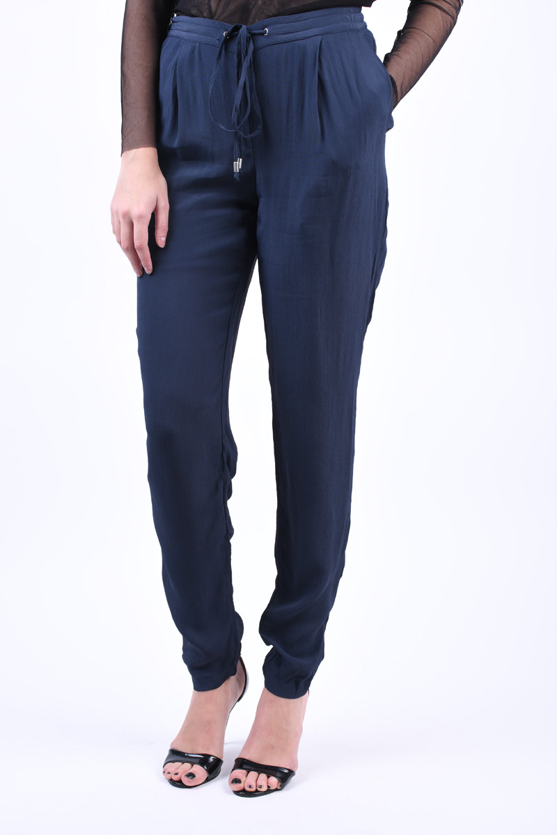 Pantaloni Vascoza VILA Loha Bleumarin
